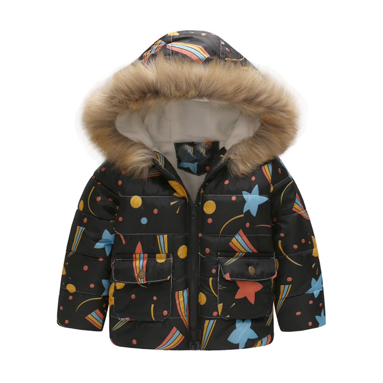 c8808eec4c626 Amazon.com: Children Coat Baby Girls Winter Coats Long Sleeve Coat Girl's  Warm Baby Cotton Down Jacket Winter Outerwear Cartoon Fleece: Clothing