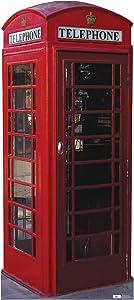 Advanced Graphics English Phone Booth Life Size Cardboard Cutout Standup