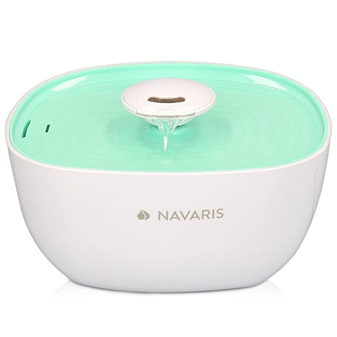 Navaris Fuente de Agua para Gatos - Bebedero automático y Flujo de 2 litros Perro y Gato - Dispensador con Bomba Sumergible y Fuente de alimentación: ...