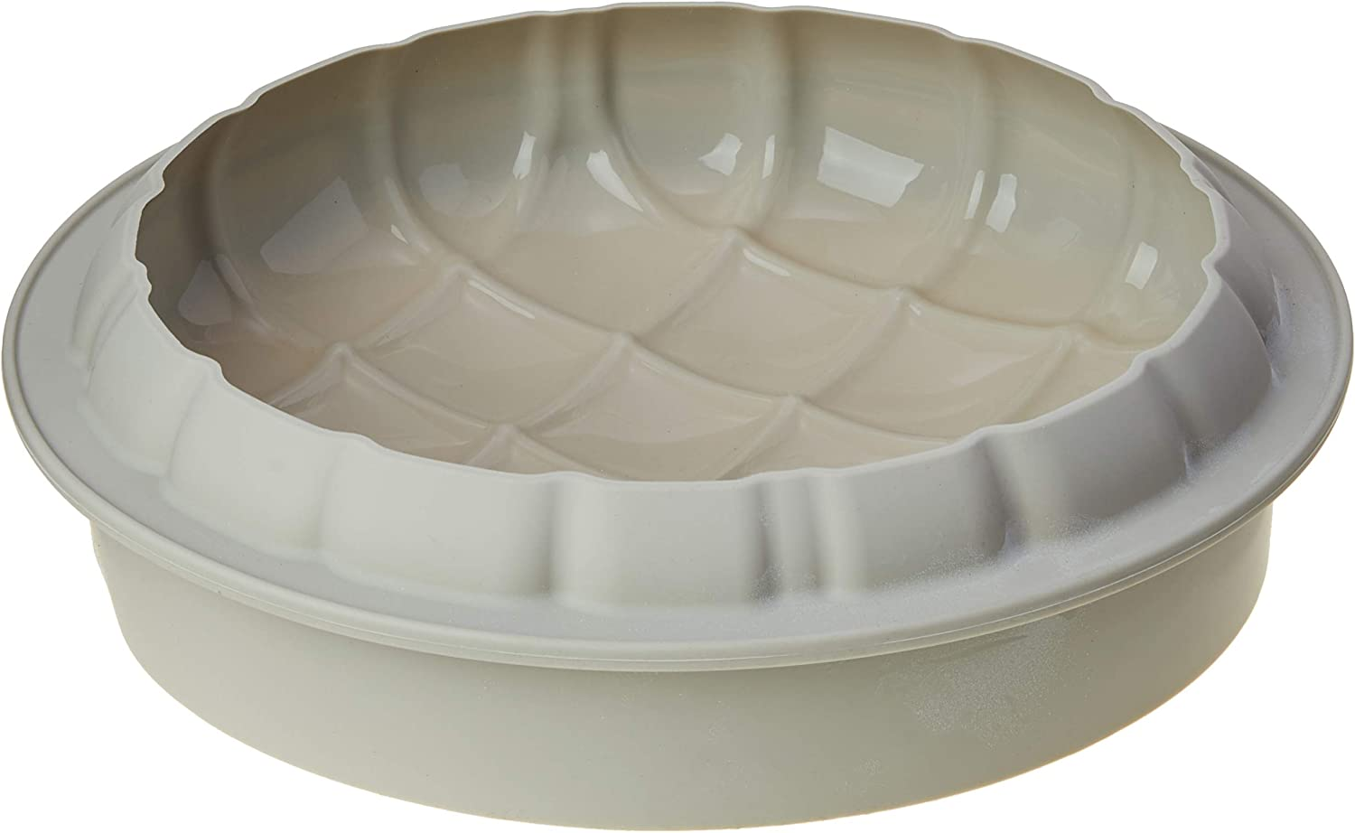 Silikomart Eleganza (Elegance) Silicone Mold, Flexible Cake Pan with 3D Tufted Detailing, Easily Unmolds, Oven, Microwave, Freezer and Dishwasher Safe, 57-1/2-Fluid Ounces, Made in Italy