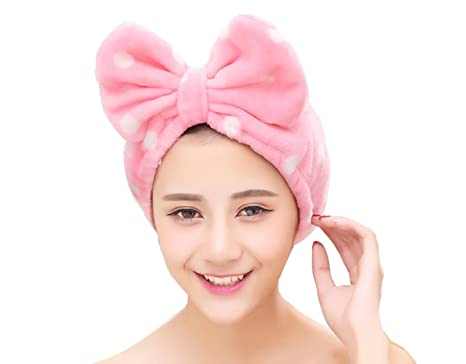 Cimary Ultra Soft Face Washing Elastic Bow Towel Headbands Cosmetic  Headbands Elastic Hairlace for Make- 977226d80d82