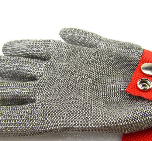 Luckystone Ambidextrous Cut Resistant Gloves - High Performance Level 5 Protection,Safety Cut Proof Stab Resistant Stainless Steel Metal Mesh Butcher Glove,Food Grade Cut Proof Gloves by LuckyStone (Image #3)