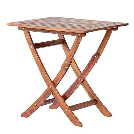 Tavolo Pieghevole Da Terrazzo.Bakaji Tavolo Pieghevole Da Giardino Tavolino Da Esterno In Legno