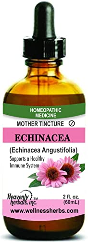 Echinacea Q Echinacea Angustifolia Mother Tincture - Supports Healthy Immune Function Aids in Detoxification - Alcoholic Extract, 2. Fl oz by Heavenly Herbals, Inc.