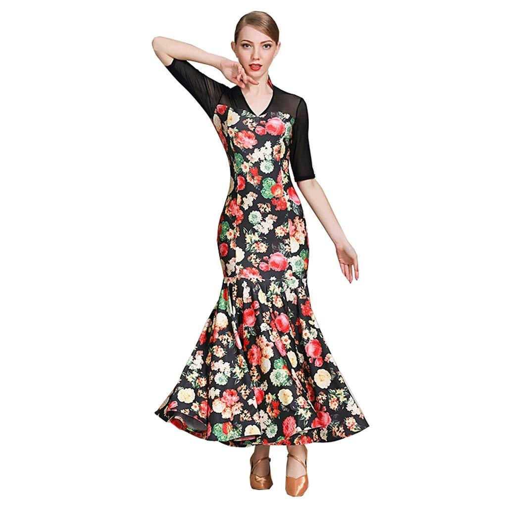 選ぶなら 女性のためのミッドスリーブスタンドカラーモダンダンスドレスファッションプリント国家標準ダンス衣装ワルツパフォーマンススカート B07QB7LQKL B07QB7LQKL グリーン XL グリーン グリーン XL XL, ロワールブティック:acc8d63a --- a0267596.xsph.ru