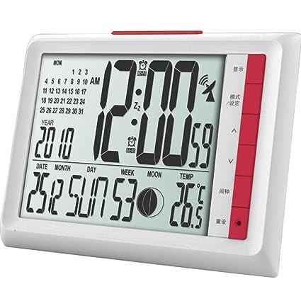 GAOHL Gran pantalla led reloj digital calendario temperatura ...