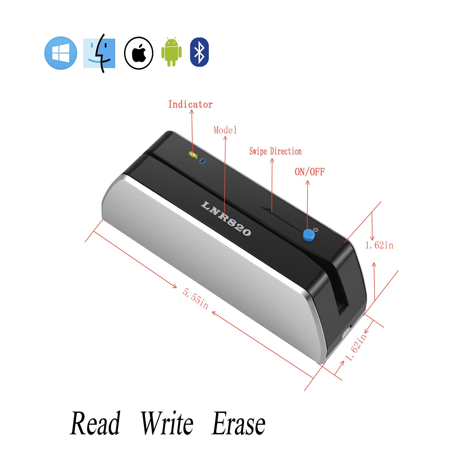 Magnetic Stripe Headset Diagram Trusted Wiring Hid Reader Amazon Com Lanora Lnr820 Bluetooth 3 Tracks Card