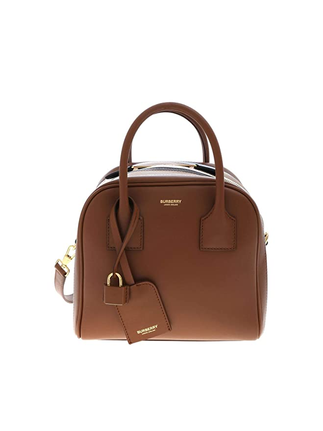 HANDBAG BURBERRY, LEATHER 100%, color BROWN, Measurements 24x20x20cm, Handle 10cm, Shoulder Strap 56cm