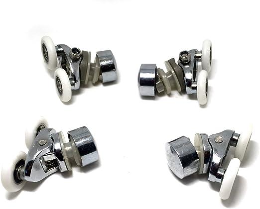 Repuesto ruedas para mampara de ducha cromo - 2 x Top & 2x parte ...