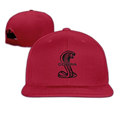 e2d83b23863a61 M Angel Adjustable Funny Mustang Cobra Logo Flat Sun Hats Baseball Cap One  Size Red at Amazon Men's Clothing store: