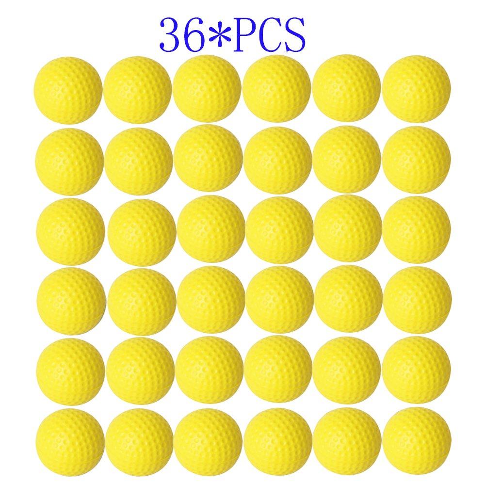 Dsmile Practice Golf Balls, Foam, 36 Count, Yellow by Dsmile
