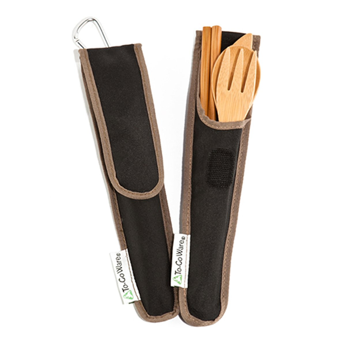 To-Go Ware Bamboo Travel Utensils - Utensil Set with Carrying Case, Hijiki