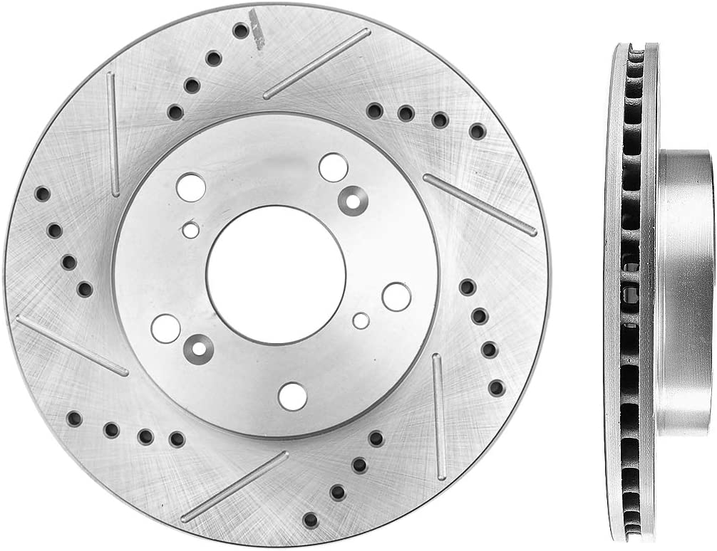Callahan CDS04775 REAR 302.1mm Drilled//Slotted 5 Lug 2 Rotors