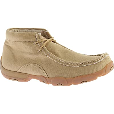 Twisted X Boots Mens Khaki Canvas Bomber Driving Mocs