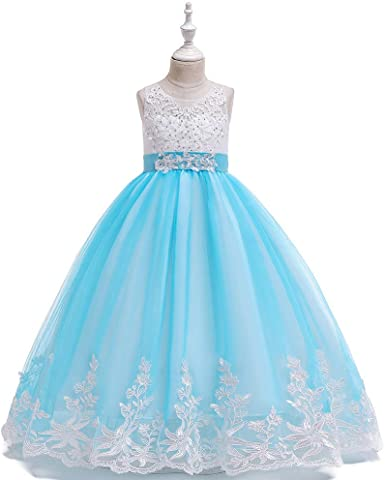 LI-Beauty Girls Lace Bridesmaid Dress