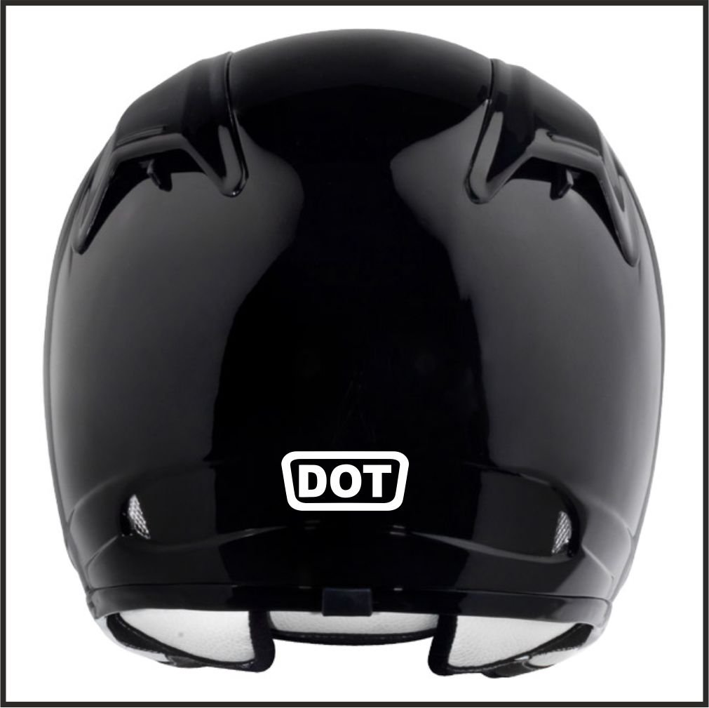 Amazoncom Pcs DOT Replacement Logo Helmet Motorcycle Decal - Vinyl decals for motorcycle helmets