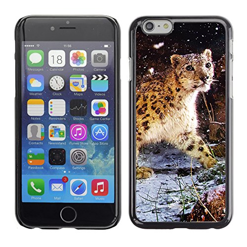 "Premio Sottile Slim Cassa Custodia Case Cover Shell // V00003853 averses de neige de léopard de neige // Apple iPhone 6 6S 6G 4.7"""