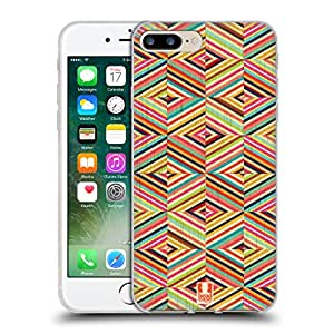Head Case Designs Diamond Coloured Streaks Soft Gel Case for Apple iPhone 7 Plus