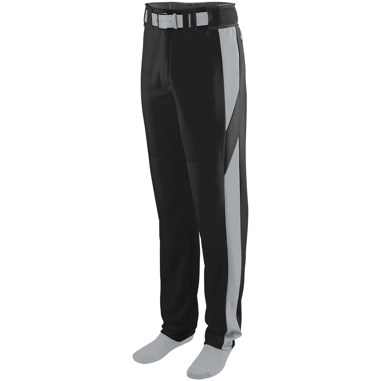 Augusta Sportswearメンズシリーズカラーブロック野球パンツ B00P545DQC Large|Black/Silver Grey Black/Silver Grey Large
