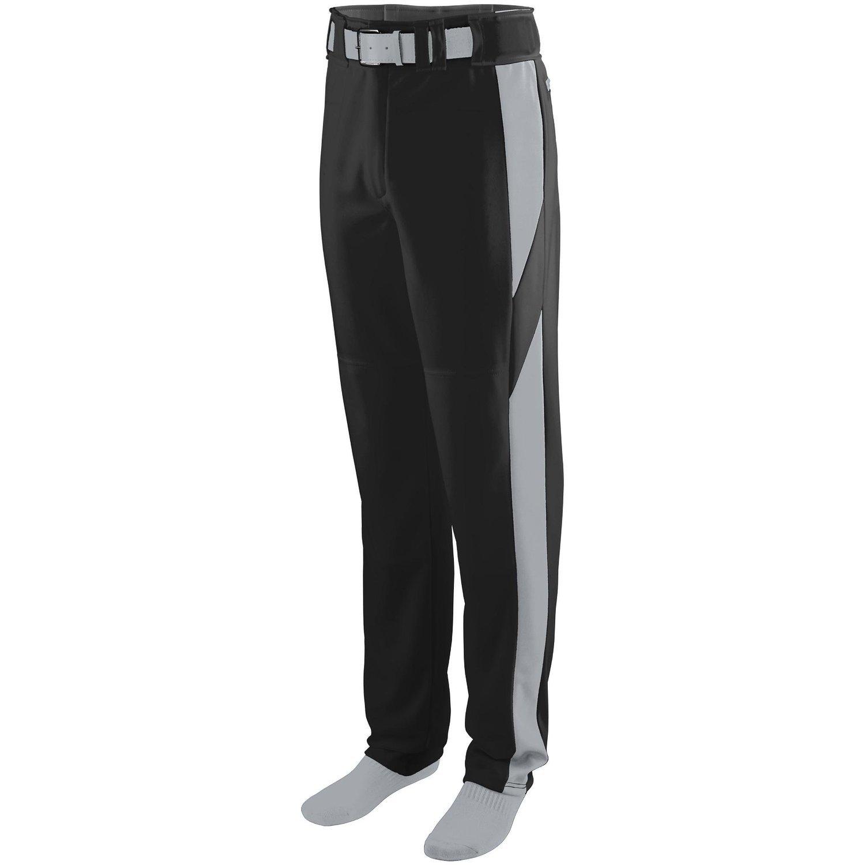 Augusta Sportswearメンズシリーズカラーブロック野球パンツ B00P544R50 XXX-Large|Black/Silver Grey Black/Silver Grey XXX-Large