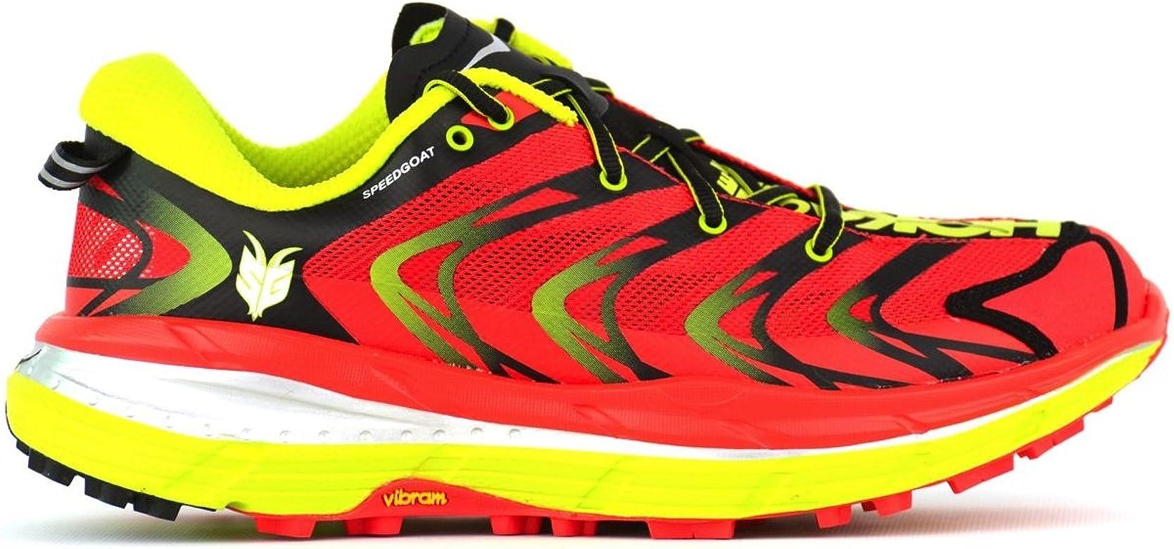Zapatilla trail running Hoka Speedgoat 2, color rojo, talla 40 1/3 EU: Amazon.es: Zapatos y complementos