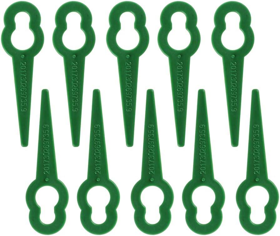 AK 10 Piezas de Cuchillas de Corte de Hierba de plástico Cortacésped de reemplazo de Cuchillas de Cambio rápido
