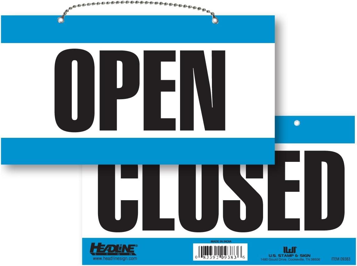 Amazon.com: Titular Sign 9384 doble cara señal abierto ...