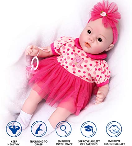 Newborn Baby Doll Gift Toy Vinyl Silicone Lifelike Kids Parents-to-be Practice