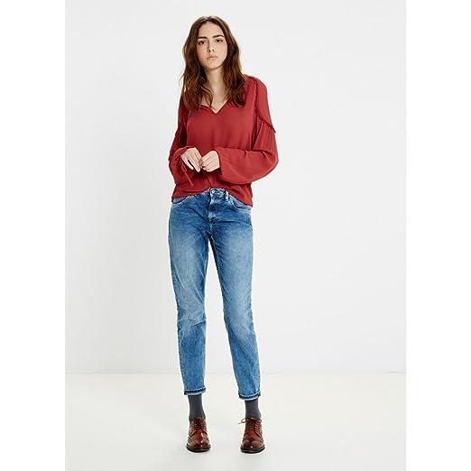 Jeans Burdeos Mujer Pepe Amazon Brees Blusa Talla Color S 1wO7B