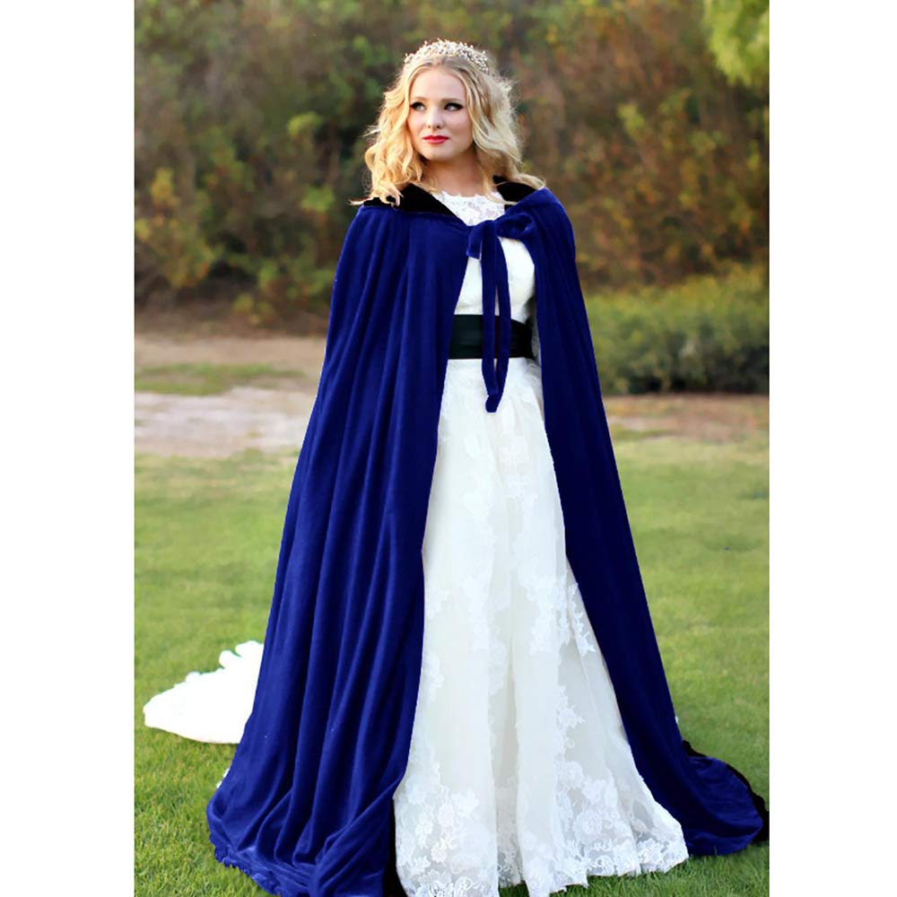 BHXUD Halloween Mantel Mantel Cosplay Kostüm Kostüm Kugel Schal,Blau,XXXXL