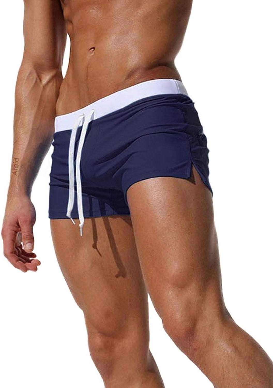 Tomsent 2017 Uomo Costume da Bagno Elastico Vita Bassa Slim per Nuoto Spiaggia Mare Piscina Sport Slip Pantaloncini Calzoncini Mutande con Coulisse Pants