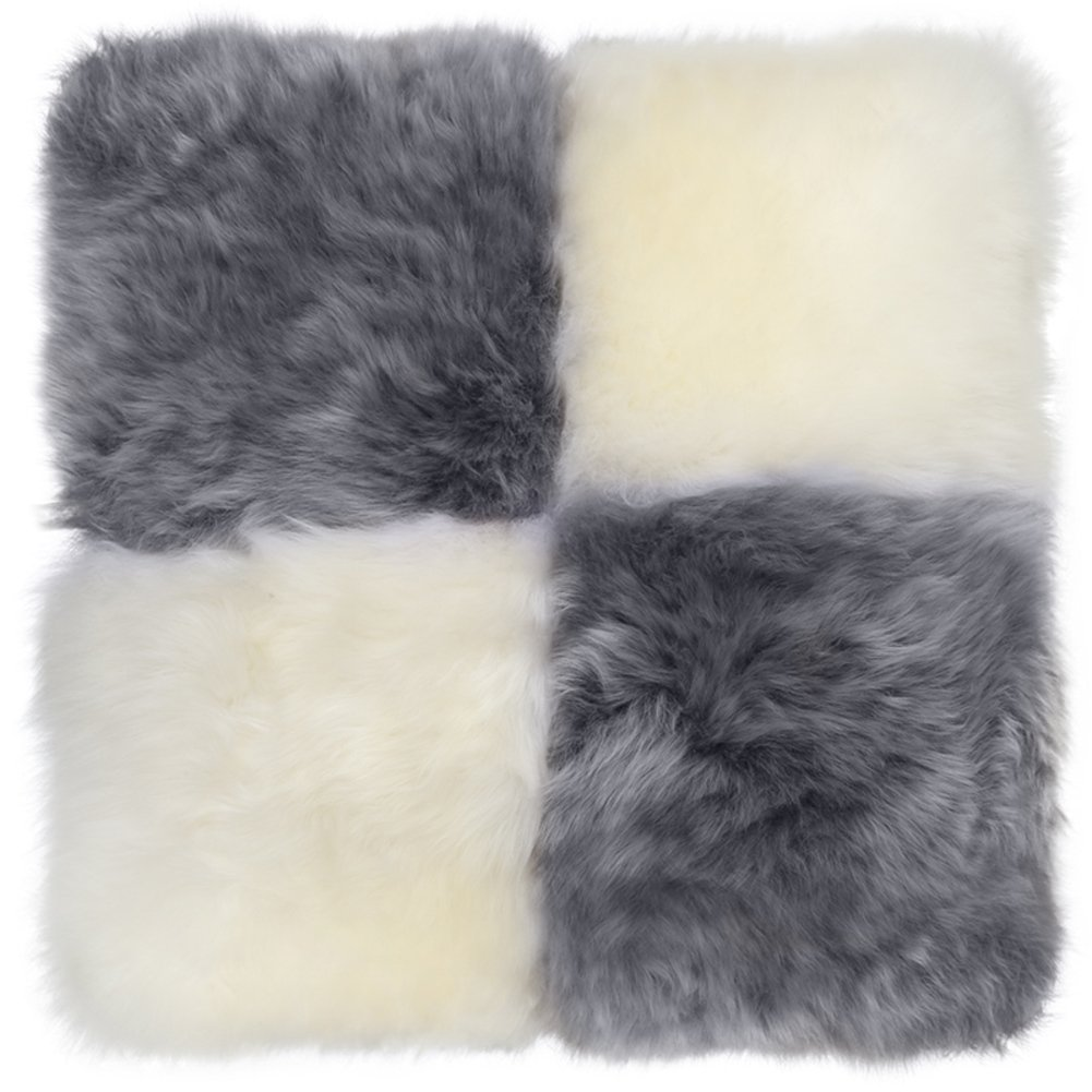 Color shaggy chair pads Cushion in winter Dual-use cushion Pillow Chair pads and cushions-A 50x50cm(20x20inch)