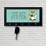 Nutcase Owl Design Wooden Wall Mounted Key Holder