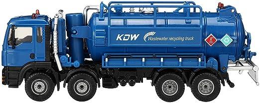 Terrarum 1, 50 Escala Diecast Modelo de aspiradora de Drenaje de Agua camión de succión Modelo de Juguete de envío – Blanco, Azul: Amazon.es: Jardín