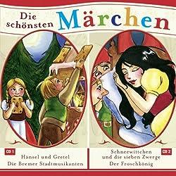 Hänsel und Gretel / Die Bremer Stadtmusikanten / Schneewitchen und die sieben Zwerge / Der Froschkönig (Grimms Märchen)