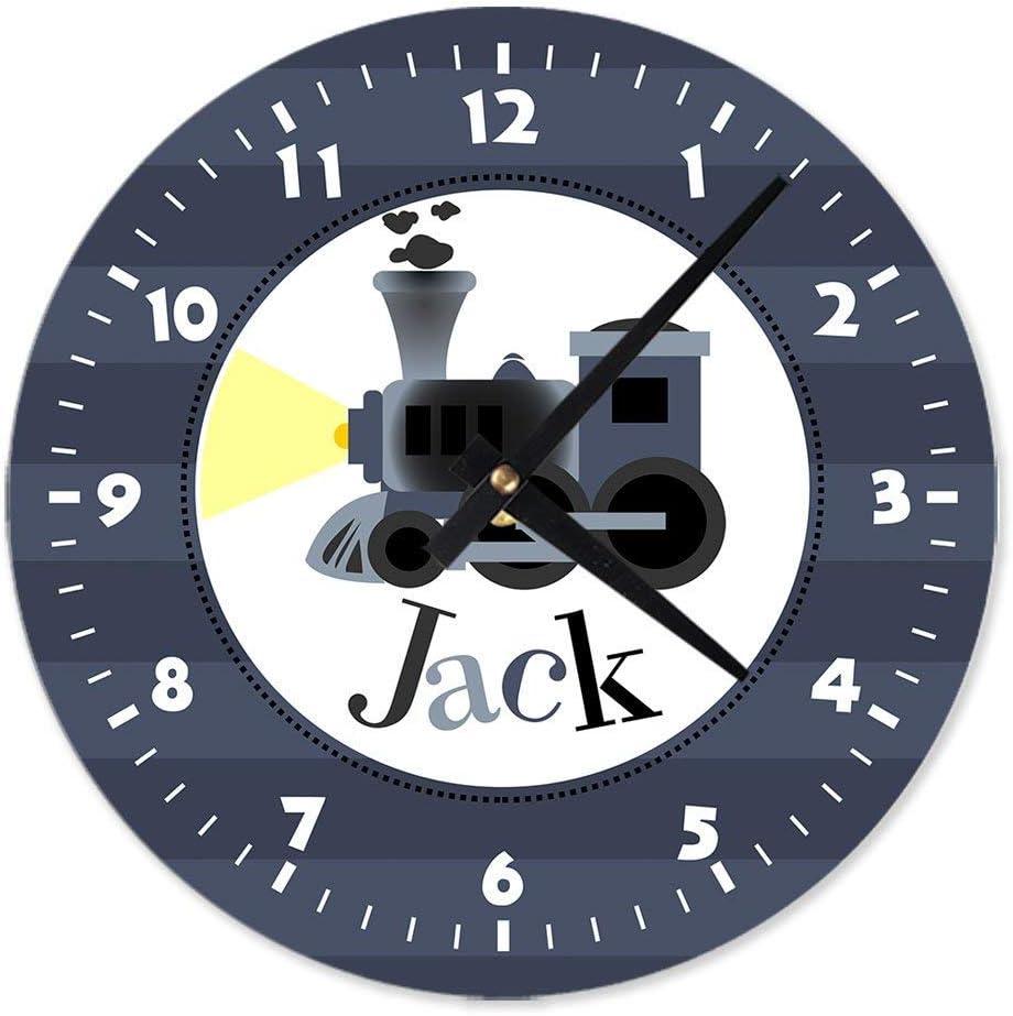 All Aboard Train Personalized Aluminum Clock Personalized Clock Train Wall Clock Metal Clock Childrens Birthday Clocks Kids Clock Amazon Ca Home Kitchen