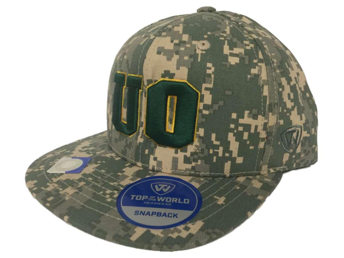 Oregon Ducks牽引デジタル迷彩Patriotスナップ調整可能なスナップバック帽子キャップ   B01LBDGWNS