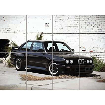Bmw E30 M3 Sports Rally Car Kunst Neu Giant Wall Poster Print New G1313 By Doppelganger33ltd