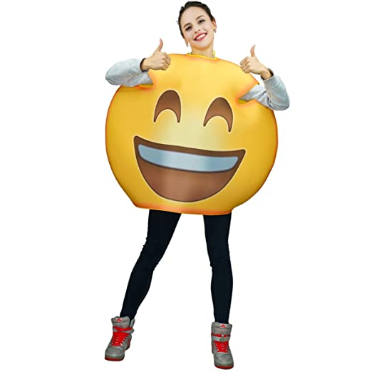 Adult Fun Unisex Emoticon Costumes Laugh One Size