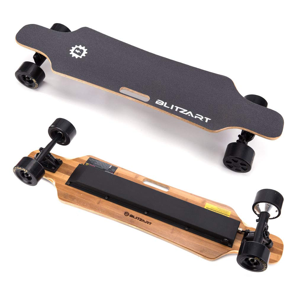 """Blitzart 38"""" Electric Longboard Skateboard 18mph 350w brushless Motor"""
