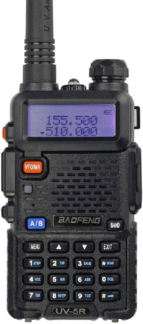BaoFeng UV-5R Dual Band Handheld Two Way Radio Rechargeable Ham Walkie Talkie with Free Earpiece /& Speaker Mic