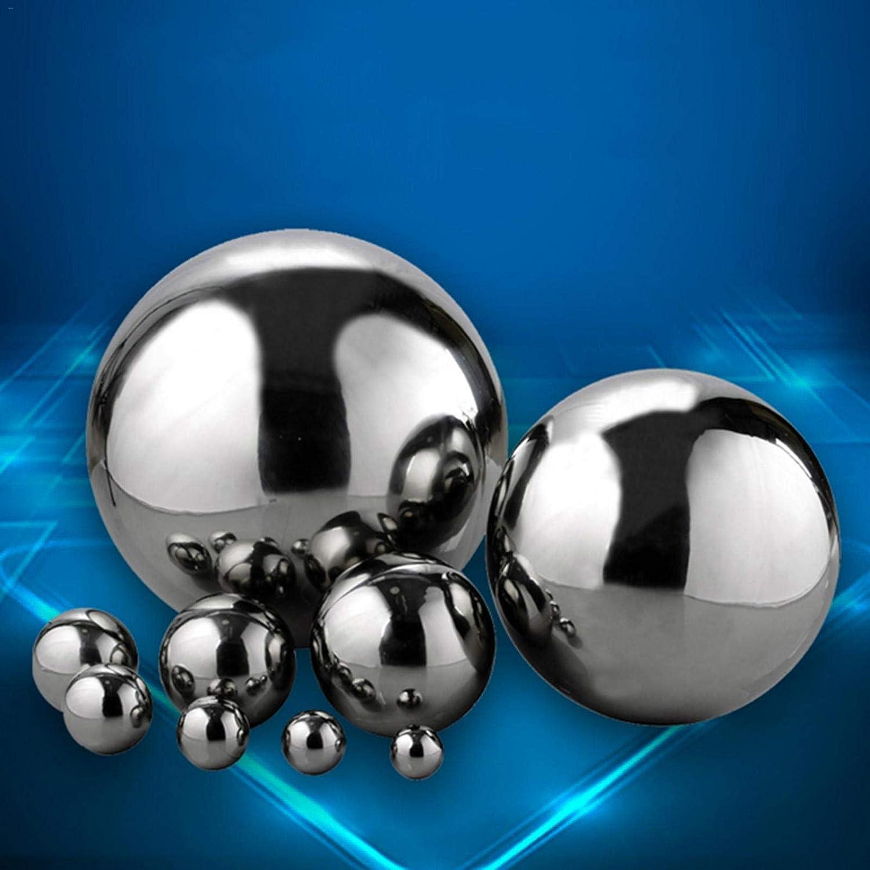 2 piezas multicolor Bola hueca de acero inoxidable 304 sin costuras espejo esfera adorno de jard/ín