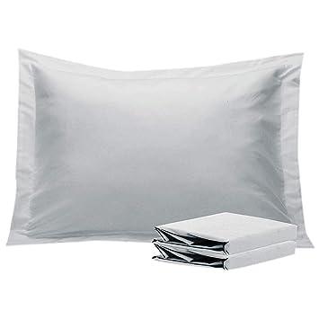 Decorative King Pillow Shams.Amazon Com Np Linen Set Of 2 King Pillow Shams Silver Grey
