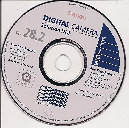Canon Digital Camera Solution Disk Ver. 28.2 Digital Camera Solution Cd Rom