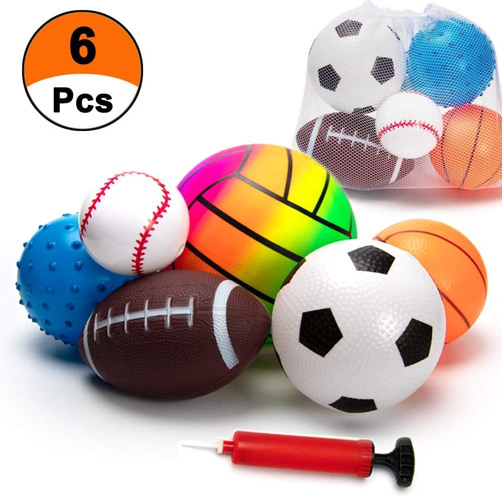 Girls 6 Inch Jet Sports Ball Flying Balls for Birthday Party Favors for Boys Safe Foam Toy for Kids 3 and Above from Playko Beach or Pool Exciting Summer Activity Goodie Bag Filler Set of 12
