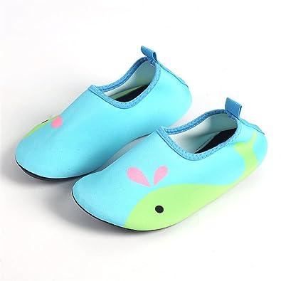 fa4ef46d65 Aquaschuhe Wasserschuhe für Kinder Mädchen Jungen Badeschuhe Baby  Schwimmschuhe Strandschuhe Surfschuhe Barfuß Schnell Trocknend Schuhe Socken