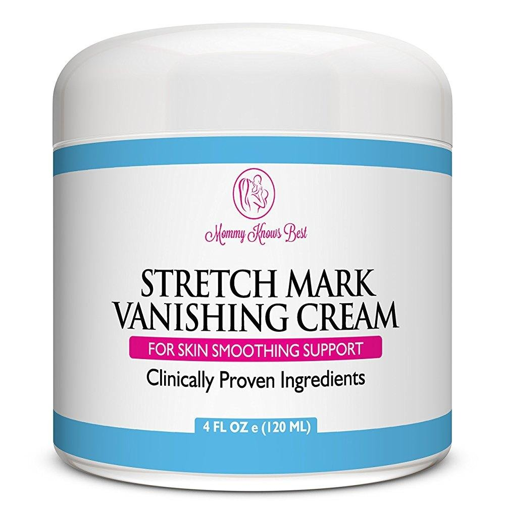 Mommy Knows Best Stretch Mark Cream for Pregnancy Anti Cellulite Vanishing Cream - Remove Stretch Marks From Pregnancy - Clinically Proven Prevention Lotion Therapy