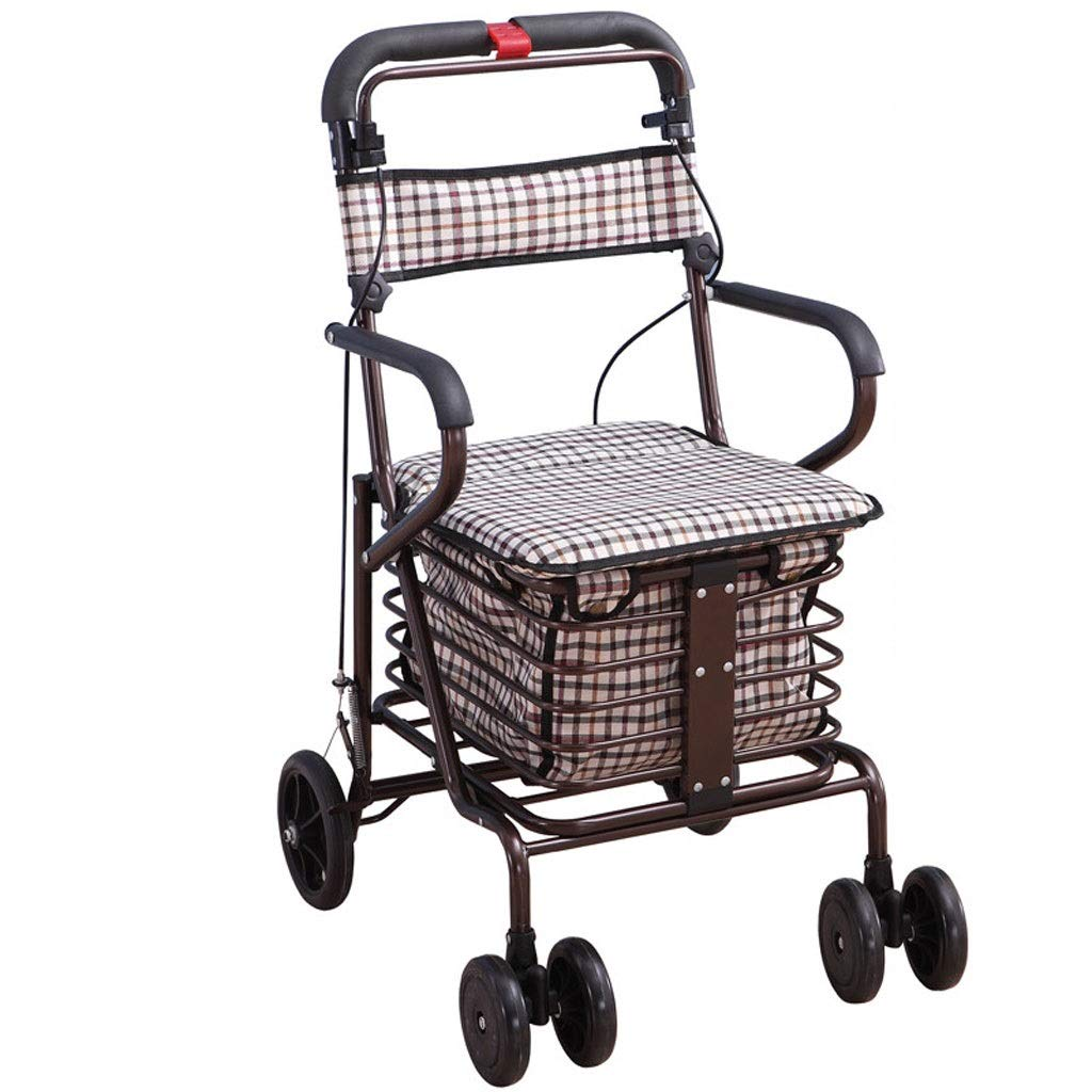 Xilinshop Portable Utility Carts Old Man Folding Shopping Cart Portable Shopping Cart Shopping Cart Home Shopping Cart ( Color : E )