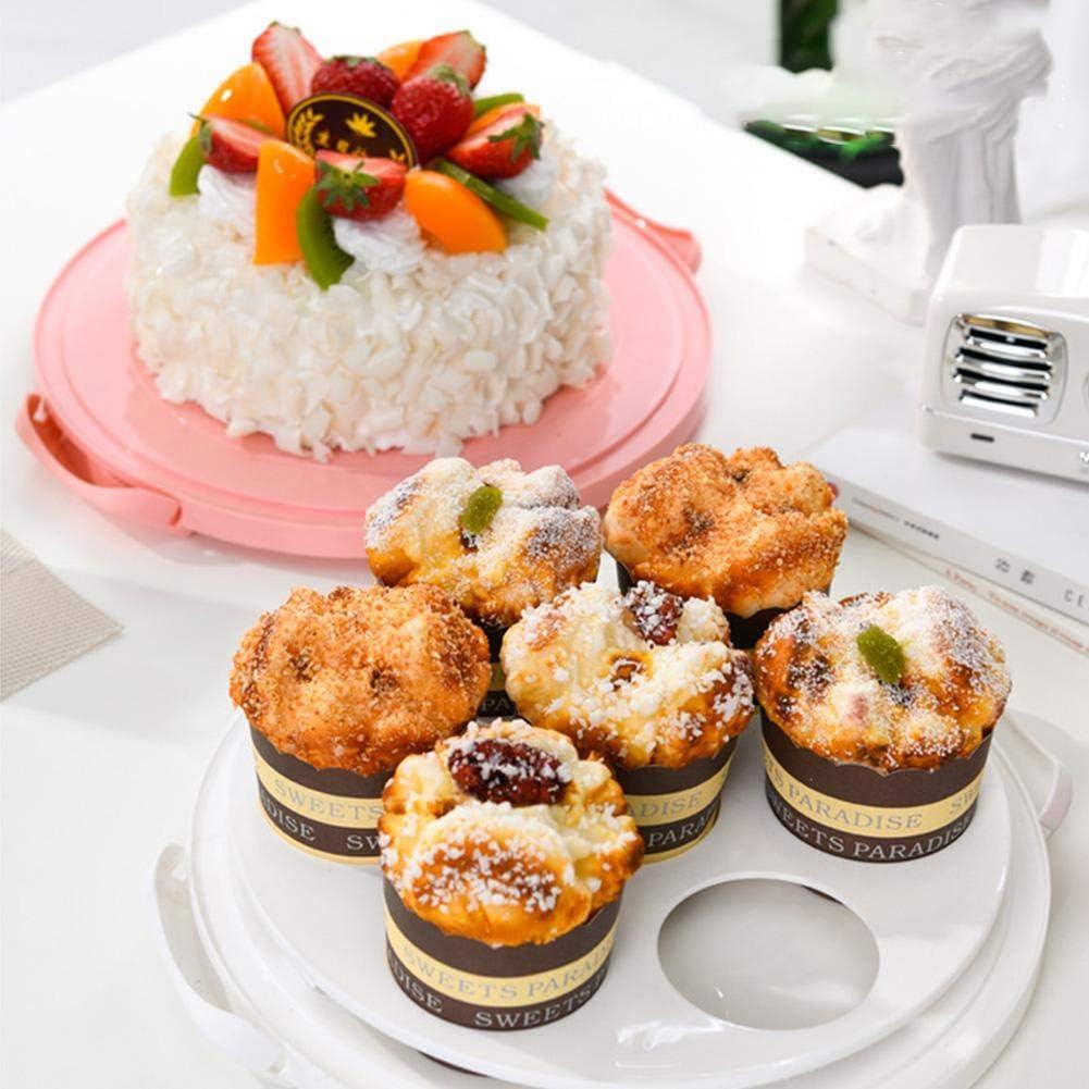 refrigerador y caja para cupcakes reutilizable con 7 agujeros redondos contenedor de almacenamiento de frutas y verduras desmontable Caja de almacenamiento port/átil para tartas con asa