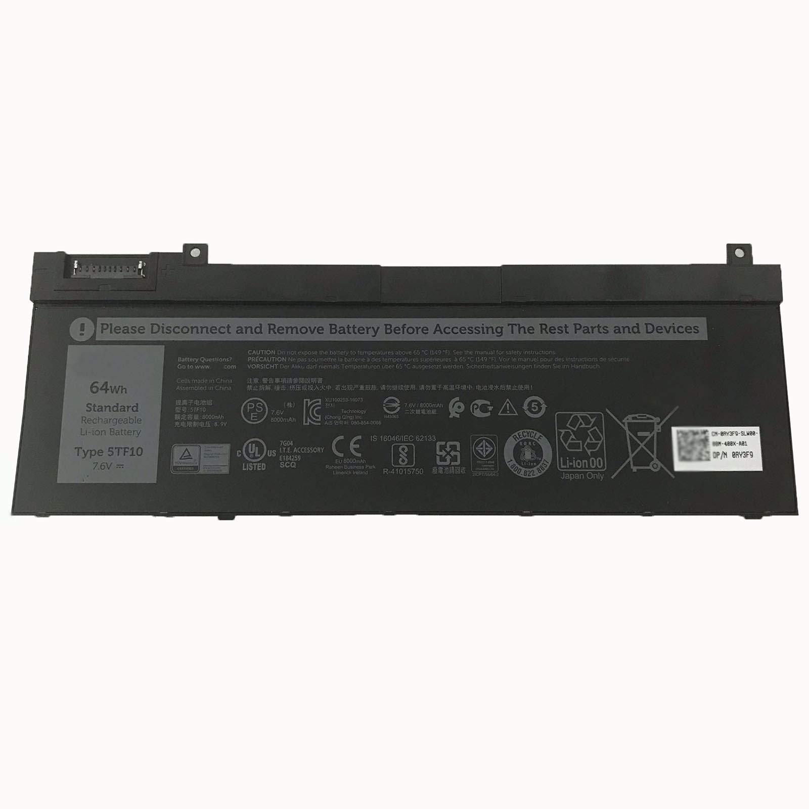 Bateria 7.6V 64Wh/8000mAh 5TF10 Built-in Replace Dell Precis